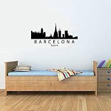 Amazon Com Barcelona Spain City Skyline Vinyl Wall Decals Quotes Sayings Words Art Decor Lettering Vinyl Wall Art Inspirational Uplifting Baby