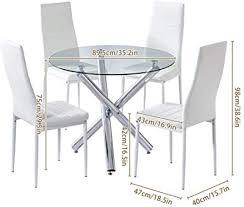 milan denise round glass 5 piece dining