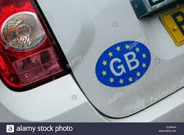 Gb Sticker Car High Resolution Stock Photography And Images Alamy