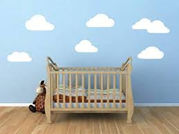 Amazon Com Ceciliapater Toy Story Cloud Wall Decal Set White Clouds Vinyl Wall Decals Sky Scene Wall Graphics Home Kitchen