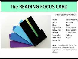 reading focus card to help students