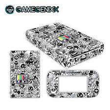 Gamegenixx Skin Sticker Vinyl Decal Protective Wrap Cover For Nintendo Wiiu Black White Graffiti Stickers Aliexpress