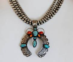 navajo silver beaded turquoise spiny