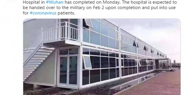 """Resultado de imagen para hospital construido en 16 horas en Wuhan"""""""