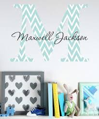 Lollipop Walls Blue Chevron Personalized Wall Decal Best Price And Reviews Zulily