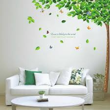 Walplus Wall Sticker Decal Green Falling Leaves Kids Room Home Decorations For Sale Online