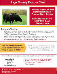 Pasture Walk Thursday, August 22, 2019... - Iowa State University Extension  and Outreach- Page County | Facebook