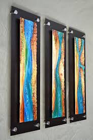 fused glass wall hanging art