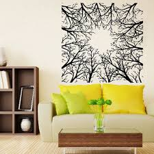 Shop Abstract Trees Forest Nature Wall Decor Floral Interior Home Vinyl Art Wall Decor Kids Room Sticker Decal Size 22x22 Color Black Overstock 14628197