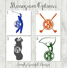 Golf Decal Golf Monogram Golf Team Gift Vinyl Decal Etsy Golf Monogram Golf Team Gifts Tumbler Decal