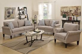 3 piece living room furniture set gray