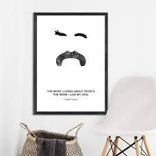 Hipster Mark Twain Art Print Free Shipping Fy