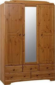 nordic 3 door 5 drawer mirrored wardrobe