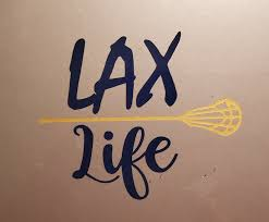 Lax Life Lacrosse Life Htv Or Vinyl Decal Lax Decal Etsy