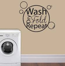 Bubble Wash Dry Fold Repeat Laundry Room Wall Art Wall Vinyl Wall Sticker Wall Decal Laundry Room Wall Art Laundry Room Vinyl Wall Decals