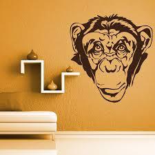 Vinyl Wall Decal Monkey Head By Artollo