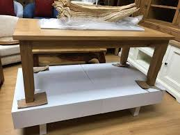 vancouver solid oak coffee table in
