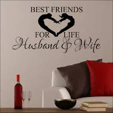 Large Wall Sticker Best Friends For Life Husband And Wife Love Heart Transfer Bespoke Graphics