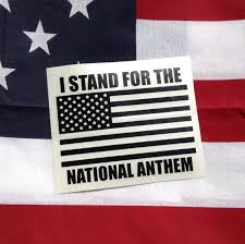 I Stand For The National Anthem American Flag Vinyl Decal Etsy