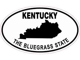 Stickertalk Oval Kentucky The Bluegrass State Vinyl Sticker 5 Inches By 3 Inches Newegg Com