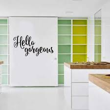 Hello Gorgeous Wall Sticker Motivational Quote Wall Sticker Removable Wall Decal Inspirational Girls Quotes Cut Art Home Decal Removable Wall Decals Wall Decalswall Sticker Motivation Aliexpress