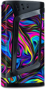 Amazon Com Skin Decal Vinyl Wrap For Smok Alien 220w Tc Vape Mod Stickers Skins Cover Neon Color Swirl Glass