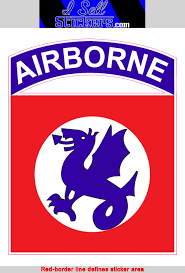 508th Airborne Army Combat Vinyl Military Bumper Sticker Window Decal