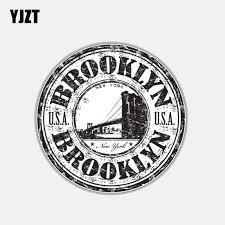 Yjzt 10cm 10cm Funny Car Sticker Brooklyn Usa Window Body Car Accessories Decal 6 3017 Car Stickers Aliexpress