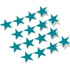 Turquoise Stars Vinyl Wall Decals Shapes Patterns Decalvenue Com Decal Venue