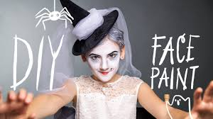 diy face paint witch makeup for