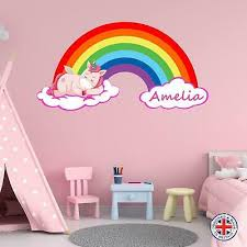 Home Decor Items Vinyl Decal Wall Sticker Unicorn Face Name Door Intense Sparkles Rose Gold 5 Directway Com Cy