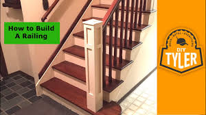 How To Build A Railing For A Staircase Youtube