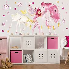Wall Decal Mia And Me Mia Onchao And Lyria Nursery Girl Unicorns Wall Tattoo Wall Stickers Wall Tattoos Baby Room Wall Decals Baby Room Wall Baby Room Decor