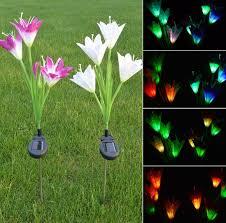solar garden stake lights 2 pack