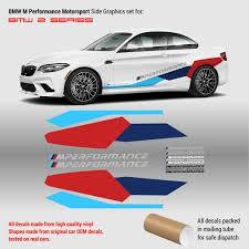 Bmw M Performance Motorsport Side Graphics Set For Bmw M2 M4 M5