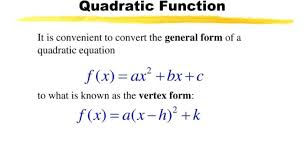 quadratic function in vertex form get