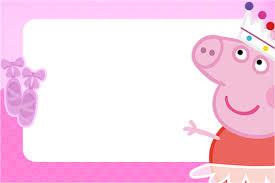 Invitaciones De Peppa Pig Para Imprimir
