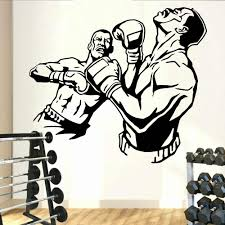 Fight Boxing Wall Decal Knockout Sparring Mma Sport Vinyl Living Roon Interior Wall Sticker Home Decoration For Gymnasium Y810 Wall Stickers Aliexpress