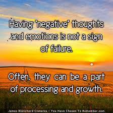 negative thoughts emotions are not a sign of failure