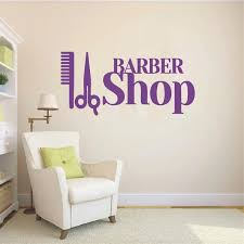 Barbershop Wall Decal Hairdressing Salon Elmber Vinyl Sticker Hairstyles Home Wall Bedroom Diy Decor Art Murals Ny 156 Decoration Art Wall Decalsvinyl Stickers Aliexpress