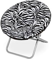 Amazon Com Kids Adult Saucer Chair Zebra Pattern 225 Lbs Capacity Home Room Dorm Wide Seat Kitchen Dining