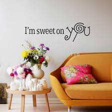 I M Sweet On You Wall Sticker Lollipop Couple Lover Wall Decals Wedding Gifts Bedroom Living Room Decor Room Decoration Living Room Decorationwall Decals Aliexpress