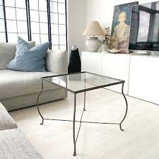 coffee table wrought iron glass top