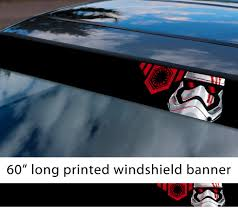 Buy 60 First Order Logo V2 Emapre Kylo Ren Stormtrooper Star Wars Sun Strip Printed Car Vinyl Sticker Decal
