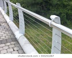 Metal Railings With Wire Cables Images Stock Photos Vectors Shutterstock