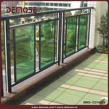 balcony railing design glass aluminum