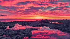 horizon sea nature landscape sunset