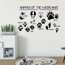 Woodland Wall Decal Wall Decals For Kids Animal Vinyl Sticker Toddler Boy Room Decor Boys Wall Decals F859 Wall Stickers Aliexpress