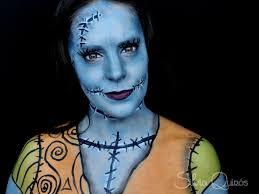 nightmare before sally makeup