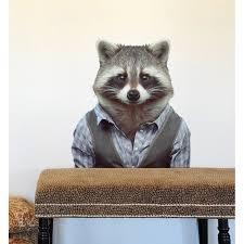 Blik Inc Raccoon Wall Decal Wayfair